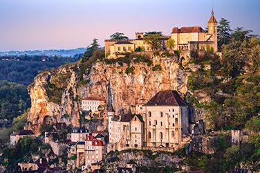 Vue sur le village de Rocamadour, l'un des plus beaux de France