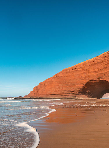 La plage de Legzira à Sidi Fini