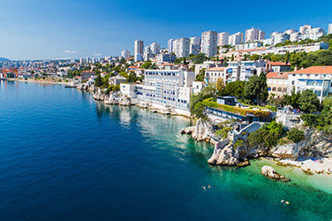Vue sur Rijeka en Croatie