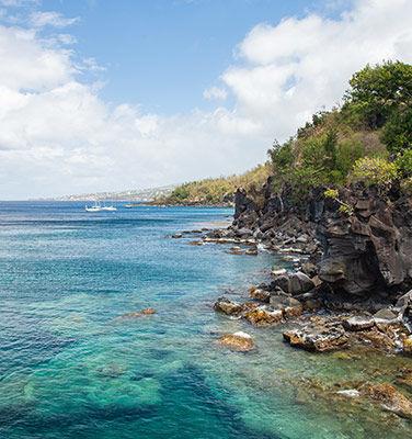 meilleure période pour partir en Guadeloupe, vue sur basse-terre