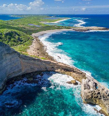 meilleure période pour partir en Guadeloupe, vue sur la plage