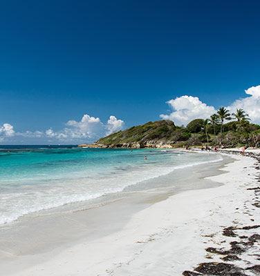 Voyage à Le Gosier, vue sur la plage en Guadeloupe
