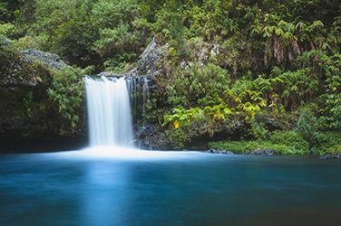 Paysage Île de la Réunion, vue sur la cascade de Langevin