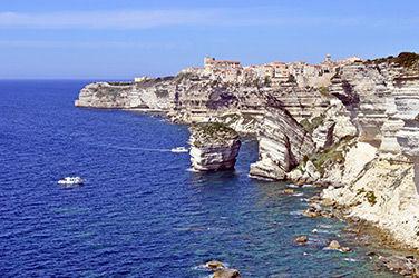 Vue sur les falaises de Bonifacio, Corse