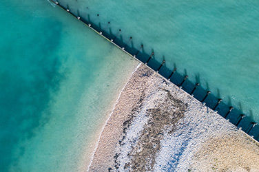 Vue sur la mer à l'Île de Ré, France