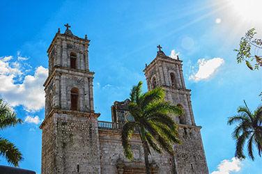 Vue sur la Cathédrale de Cancún, centre historique
