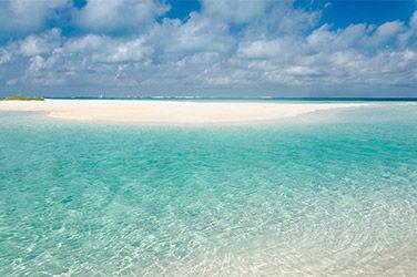 Vue sur la Playa Norte à Cancún